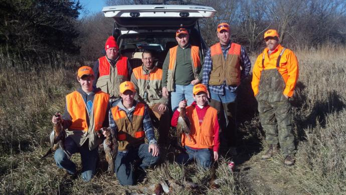 Pheasant Hunting Trophy Room Photo